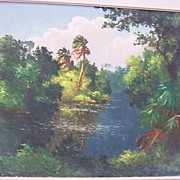 "Harold Newton Original Painting  ""Florida Highwayman"""