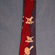 "Vintage Wembley Hunter's Necktie ""Grouse"" Circa/1950's"