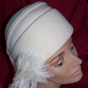 Vintage  White Mr. John Hat, Circa/1960's