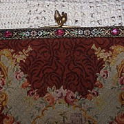 Vintage Petit Point Purse w/Fabulous Frame