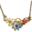 Corocraft Pastel Floral Rhinestone Necklace