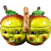 Kitschy Anthropomorphic Pixie Sour Apple Double Condiment / Jam Jar