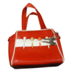 Vintage Red & White Vinyl Golf Ball Handbag