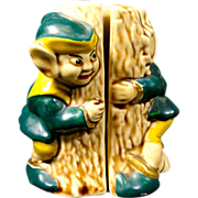 Hide & Seek Elves Around Tree Salt & Pepper Shaker Set