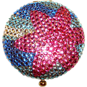 Estee Lauder Crystal Floral Powder Compact ~ an Explosion of Colors!
