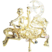 Kirks Folly Goldtone & Crystal Cherub Carousel Horse Brooch/Pin ~ Mystical!