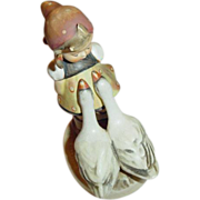 M. I. Hummel Goose Girl Figurine ~ Number 47/0 ~ Trademark #3 ~ Rare and Oh So Darling!
