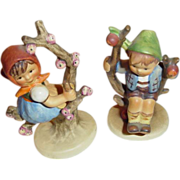 M. I. Hummel Apple Tree Girl & Apple Tree Boy Figurines ~ Numbers 141/3/0 and 142/3/0 ~ Tradem
