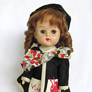 SALE Vintage Hard Plastic 7 1/2 Inches Virga Doll In Original Artist Painting Outfit