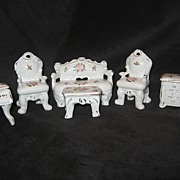 SALE Miniature Vintage Porcelain Furniture Dollhouse Size