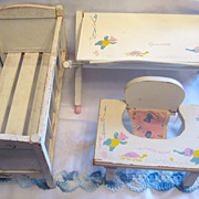 1950's Vogue Ginnette Furniture Set Three Pieces!