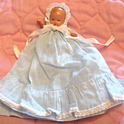 SALE All Bisque Nancy Ann Storybook Doll Baby In Blue Adorable
