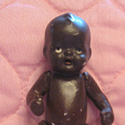 SALE Wonderful Little Black All Bisque Baby Marked Japan