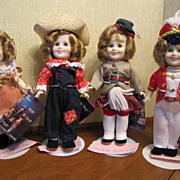 SALE 1982 Ideal Shirley Temple 8 Inch Set Of Four Dolls All Original With Tags