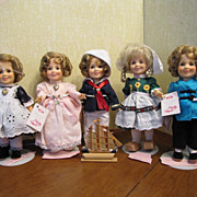 1983 Set Of Ideal Shirley Temple 8 Inch Dolls All Original Clothes And Tag