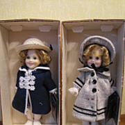 SALE Set Of Two Mint In Box 1982 Ideal Shirley Temple 8 Inch Dolls