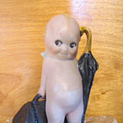 SALE Rose O'Neil All Bisque Kewpie Little Traveler  TLC