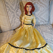 SALE Gorgeous Red Headed 28 Inch Compo & Cloth Bed Doll