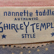 SALE Adorable 1930's tagged Nanette Shirley Temple brand toddler dress