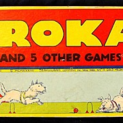 "SALE Vintage American Game: 1937 ""Krokay"" (Croquet) multi game w/ ORG. box"