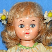 SALE 1950's All Original Hard Plastic Virga Doll Walker  - NICE!