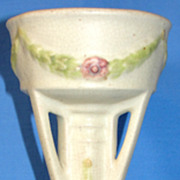 SALE Early Vintage Weller Footed Deco Vase