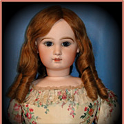 "SALE 34"" Monumental Closed Mouth Antique Tete Jumeau Fashion Poupee Doll - Breathtaking C"