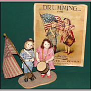 SALE Sweet pr of Patriotic Mary Ann Oldenburg Artist Dolls