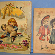 SALE Antique Childrens Books: First Printing Chatterwell Story Book & a German Child's Booklet