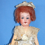 SALE Antique Cabinet SIze 8&quot; Armand Marseille flapper type Bisque Doll