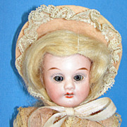 "SALE Antique Cabinet Size  8 1/2"" Porzellanfabrik Rauenstein bisque doll"