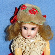 "SALE Petite 5"" Antique French Parisian Mignonette Bisque Doll - SFBJ 301"
