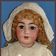 "SALE Monumental 35"" Superb Quality Antique Simon & Halbig 949 Bisque Doll w/ fab French B"
