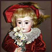 "SALE Antique German Bisque Doll 15"" -   Bahr & Proschild - LOVELY!"