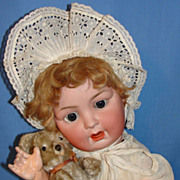 SALE Big Antique German Bisque Baby Doll