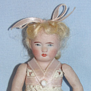 SALE Antique German All Bisque Doll in Ballerina Costume