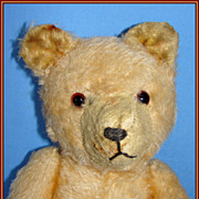 SALE Early straw stuffed Mohair Teddy  Bear - Looks like an old Pooh Bear