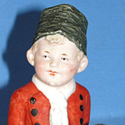 SALE Antique German Heubach Small Dutch Boy Bisque Figurine
