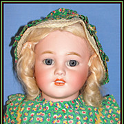 "SALE Beautiful 26"" Simon & Halbig Antique Bisque Child Doll"