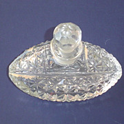 Vintage Brilliant Cut Glass Perfume Bottle