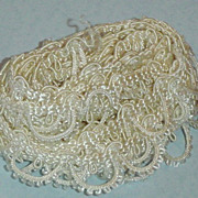 Vintage Silky White Trim for Dolls