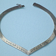 Vintage Sterling Silver Articulated Necklace