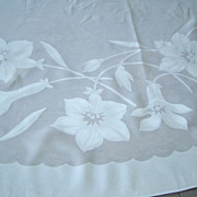 Organdy Oval Tablecloth