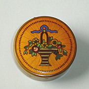 REDUCED Deco French Guilloche and Champleve  Enamel Compact Box