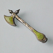 Vintage Sterling Scottish Sword Brooch Pin