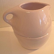 "SOLD Russel Wright ""Casual"" By Iroquois Pink Sherbert Stacking Creamer and Sugar"