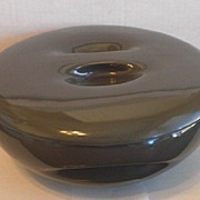 Iroquois Casual China by Russel Wright Charcoal Gray Casserole