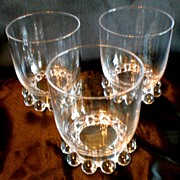 Imperial Glass Candlewick Three High Ball Glasses