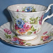 Royal Albert Bone China Cup and Saucer - Summertime Series