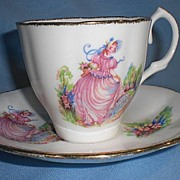 Jason Bone China Cup and Saucer - Pinkie